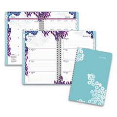 At-A-Glance Wild Washes Weekly/Monthly Planner, 8 1/2 X 5 1/2, Floral, Animal, 2020
