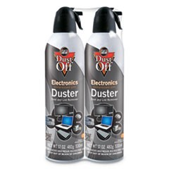 Disposable Compressed Air Duster, 17 oz Cans, 2/Pack