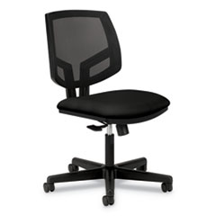 Volt Series Mesh Back Task Chair, Supports up to 250 lbs., Black Seat/Black Back, Black Base