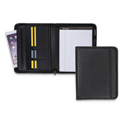 Samsill Professional Zippered Pad Holder, Pockets/Slots, Writing Pad, Black