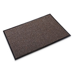 Cross-Over Indoor/Outdoor Wiper/Scraper Mat, Olefin/Poly, 48 x 72, Brown