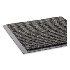 Needle Rib Wipe and Scrape Mat, Polypropylene, 36 x 60, Gray