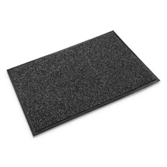Cross-Over Indoor/Outdoor Wiper/Scraper Mat, Olefin/Poly, 48 x 72, Gray