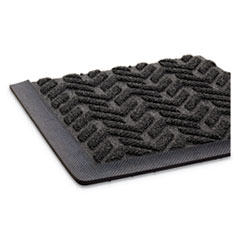 Ribbed Vinyl Anti-Fatigue Mat, 24 x 36, Black