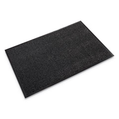 "Dust-Star Microfiber Wiper Mat, 48"" x 72"", Charcoal"