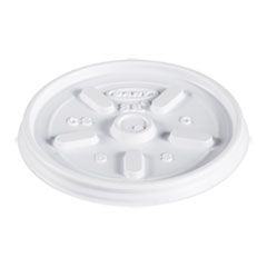 Plastic Lids, for 8oz Hot/Cold Foam Cups, Vented, 1000 Lids/Carton