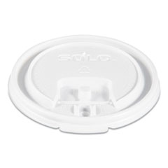 Lift Back and Lock Tab Cup Lids, for 8oz Cups, White, 100/Sleeve, 10 Sleeves/CT