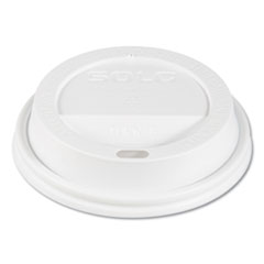 Traveler Drink-Thru Lids, Fits 10oz Cups, White, 100/Pack, 10 Packs/Carton