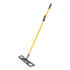 "Maximizer Dust Mop Frame with Handle and Scraper, 36"" x 5.5"", Yellow/Black"
