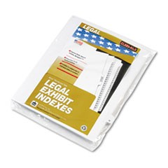 "80000 Series Legal Index Dividers, Side Tab, Printed ""U"", White, 25/Pack"