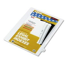 "80000 Series Legal Index Dividers, Side Tab, Printed ""X"", White, 25/Pack"