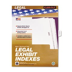 "80000 Series Legal Index Dividers, Side Tab, Printed ""Exhibit E"", 25/Pack"