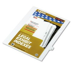 "80000 Series Legal Index Dividers, Side Tab, Printed ""19"", 25/Pack"