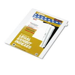 "80000 Series Legal Index Dividers, Side Tab, Printed ""27"", 25/Pack"