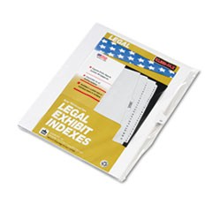 "80000 Series Legal Index Dividers, Side Tab, Printed ""37"", 25/Pack"