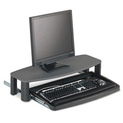 Over/Under Keyboard Drawer with SmartFit System, 14.5w x 23d, Black
