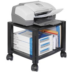 Kantekmobile Printer Stand, Two-Shelf, 17W X 13.25D X 14.13H, Black