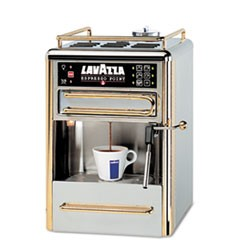 One-Cup Espresso Beverage System, Chrome/Gold Stainless Steel
