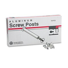 Charles Leonard Post Binder Aluminum Screw Posts, 3/16  Diameter, 1/2  Long, 100/Box