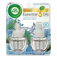 Scented Oil Refill, Fresh Waters, 0.67 oz, 2/Pack, 6 Pack/Carton
