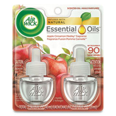 Scented Oil Refill, 0.67 oz, Apple Cinnamon Medley, 2/Pack, 6 Packs/Carton