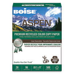 ASPEN Premium Color Copy Paper, 96 Bright, 28lb, 8.5 x 11, White, 500/Ream