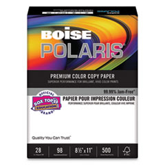 POLARIS Premium Color Copy Paper, 98 Bright, 28lb, 8.5 x 11, White, 500/Ream