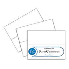 Scored Tent Cards, 11 x 4 1/4, White Cardstock, 50 Letter Sheets/Box