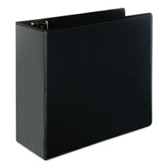 Universal Slant-Ring View Binder, 3 Rings, 5  Capacity, 11 X 8.5, Black