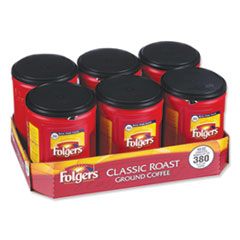 Coffee, Classic Roast, 48 oz Canister, 6/Carton