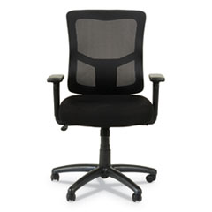 Alera Elusion II Series Mesh Mid-Back Swivel/Tilt Chair with Adjustable Arms, Up to 275 lbs., Black Seat/Back, Black Base