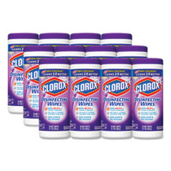 Disinfecting Wipes, 7 x 8, Fresh Lavender, 35/Canister, 12/Carton