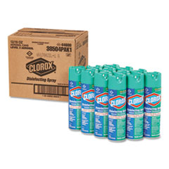 Disinfecting Spray, Fresh, 19 oz Aerosol, 12/Carton