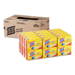 Steel Wool Soap Pad, 4/Box, 24 Boxes/Carton
