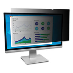 "Frameless Blackout Privacy Filter for 24"" Widescreen Monitor, 16:10 Aspect Ratio"