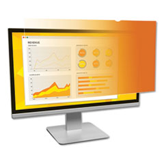 "Frameless Gold LCD Privacy Filter for 19"" Widescreen Monitor, 16:10 Aspect Ratio"
