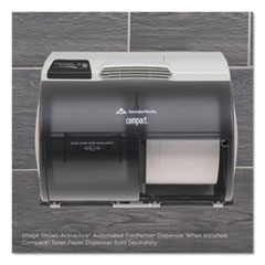 Georgia Pacific  Professionalactiveaire Automated Freshener Dispenser For Compact Bath Tissue Dispenser, 10.63  X 2.88  X 3.75 , Gray