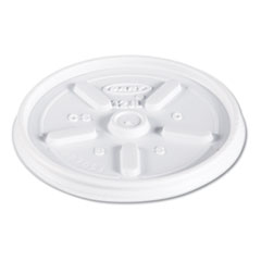 Plastic Lids for Foam Cups, Bowls and Containers, Vented, Fits 6-14 oz, White, 1,000/Carton