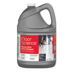 Floor Science Heavy Duty Floor Stripper, Liquid, 1 gal Bottle, 4/Carton