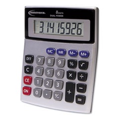 15927 Desktop Calculator, Dual Power, 8-Digit LCD Display