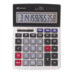15975 Large Display Calculator, Dual Power, 12-Digit LCD Display