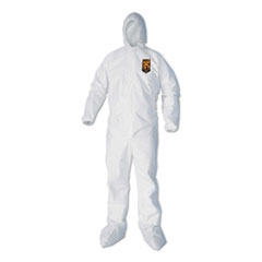 A40 Elastic-Cuff, Ankle, Hood & Boot Coveralls, White, 2X-Large, 25/Carton