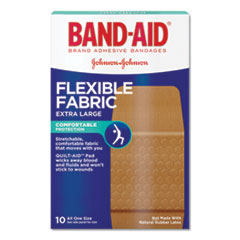 "Flexible Fabric Extra Large Adhesive Bandages, 1 1/4"" x 4"", 10/Box"