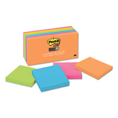 Post-It  Notes Super Stickypads In Rio De Janeiro Colors, 3 X 3, 90-Sheet Pads, 12/Pack