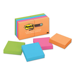 Post-It  Notes Super Stickypads In Rio De Janeiro Colors, 2 X 2, 90-Sheet Pads, 8/Pack