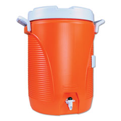 Insulated Water Cooler, 5 gal, Orange/White