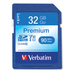 32GB Premium SDHC Memory Card, UHS-I V10 U1 Class 10, Up to 90MB/s Read Speed