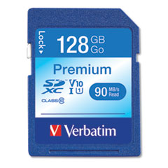 Verbatim 128Gb Premium Sdxc Memory Card, Uhs-I V10 U1 Class 10, Up To 90Mb/S Read Speed