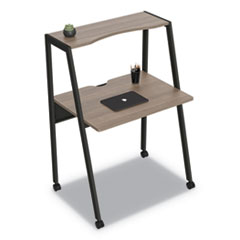 Kompass Flexible Home/Office Desk, 33 x 23.75 x 48, Mocha