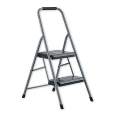Black and Decker Steel Step Stool, 2-Step, 200 lb Capacity, Gray
